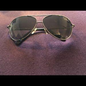 Cole Haan Silver Aviator Sunglasses EUC!!